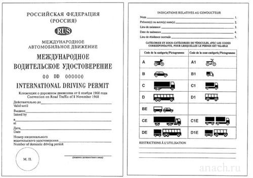 международные водительские права Какие документы нужны для поездки за границу: загранпаспорт и водительские права